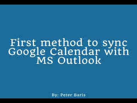 How to Sync Google Calendar ICAL File with Outlook