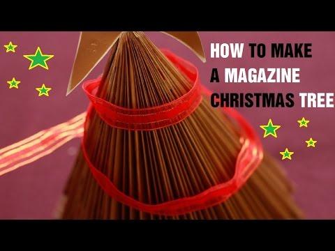How to Make a Magazine Christmas Tree