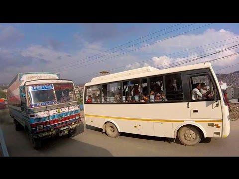 Crazy Nepal Bus Journey From Pokhara to Kathmandu