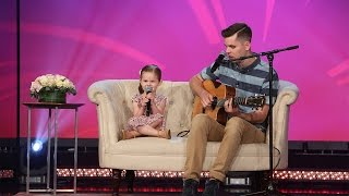 4-Year-old Claire and Her Dad Perform