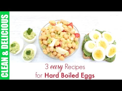 Hard Boiled Egg Recipe 3-Ways