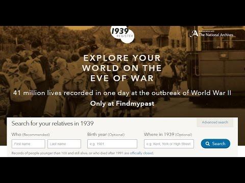 1939 Register - Getting Started Guide - Findmypast UK