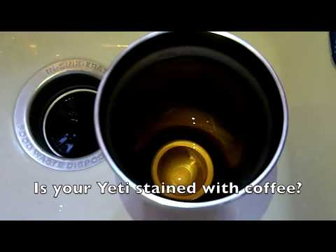 How to clean coffee stains out of a Yeti tumbler