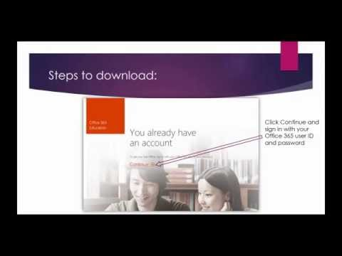 Office 365 for free if you have an .EDU email account! (watch at 1080p)