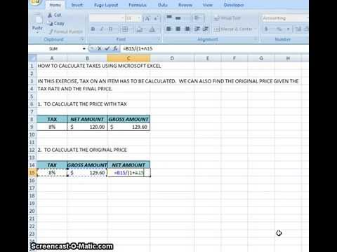 00012 - How To Calculate Income Taxes Using Microsoft Excel