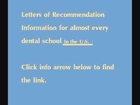Dental School Letters of Recommendation Info