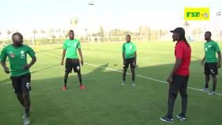 Deuxième séance d'entraînement des Lions du Sénégal à Ismailia