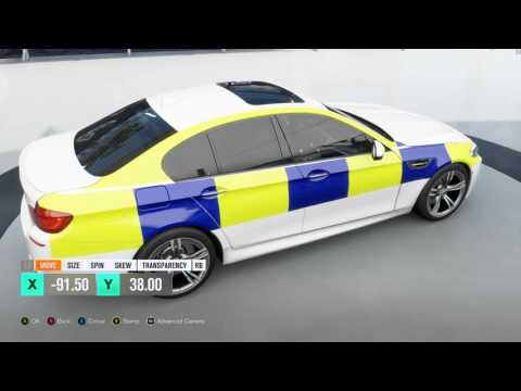 Forza Motorsport - How to make a British police livery [Voice Tutorial]