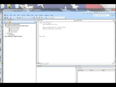 SE370: How to Filter and Copy in VBA