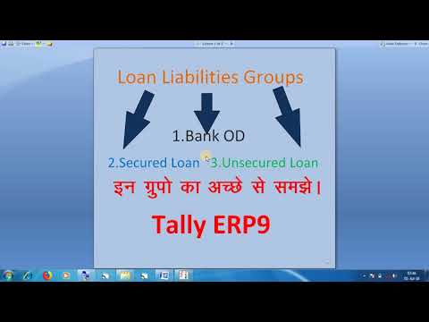 WHAT IS LOAN LIABILITIES AND BANK OD, SECURED LOAN, UNSECURED LOAN  SUBGROUPS