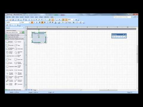 Creating a simple Visio flow chart | Microsoft Visio tutorial