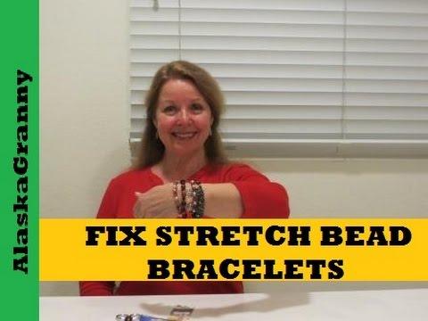 How to Fix Stretch Elastic Bead Bracelets