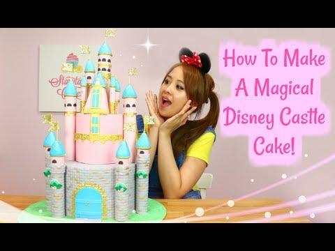 LEARN HOW TO MAKE A CASTLE CAKE ! AMAZING DISNEY CASTLE CAKE