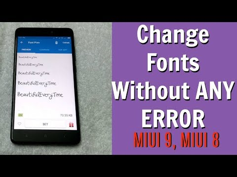 [NEW] Change FONTS on MIUI 9, MIUI 8  WITHOUT ANY ERROR [AUG 2017]