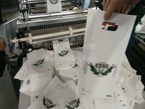 """Bottom Sealing """"D"""" cutting Plastic Bag Making Machine"""