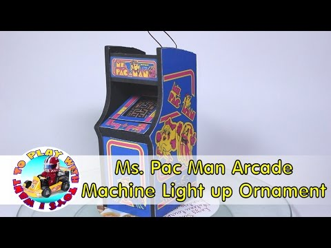 DIY Ms. Pac Man Arcade Machine Light up Ornament