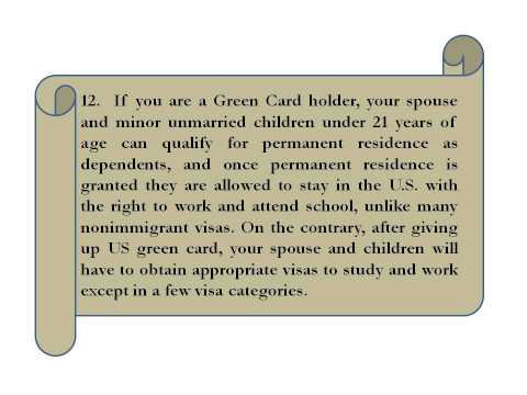 Things to Consider Before you Give Up Green Card Voluntarily