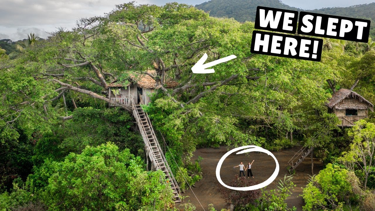WE SLEPT IN A JUNGLE TREEHOUSE (overlooking an active volcano)