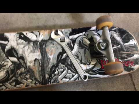 How to tighten or loosen the trucks on your skateboard