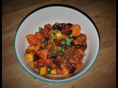 Brazilian Stew: Chorizo, Sweet Potatoes, Black Beans, and Mango Recipe