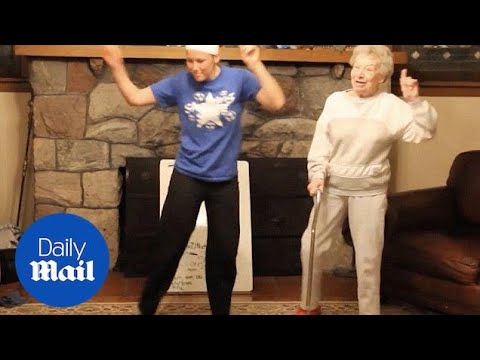 85-year-old granny dances at family's talent contest - Daily Mail