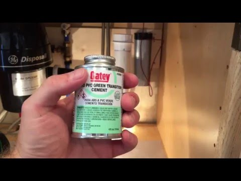 How to join ABS to PVC pipe using Oatey Green Transition Cement