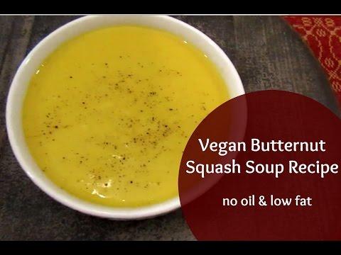 Vegan Butternut Squash Soup Recipe | No Oil!