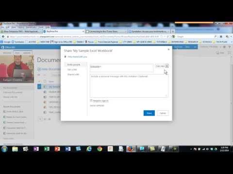 MS Office 365 Web App: EXCEL_Sharing an Excel Workbook_CCPS_3:57M