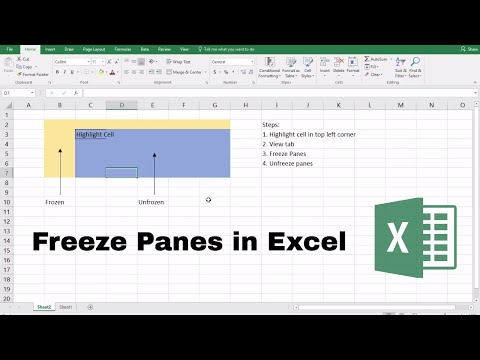 How to Freeze Panes in Excel