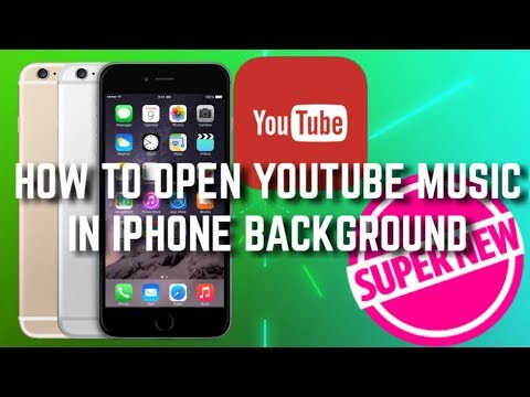How to Open Youtube music in iPhone background