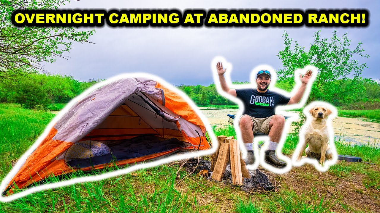 OVERNIGHT Camping at My ABANDONED RANCH for the FIRST TIME!!!