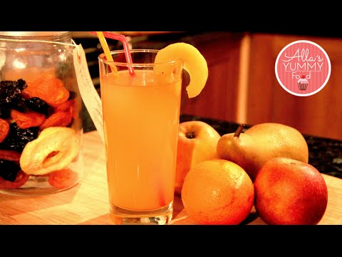 How to make Apple Pear Kompot, Fruit Juice Recipe - Яблочно-грушевий компот
