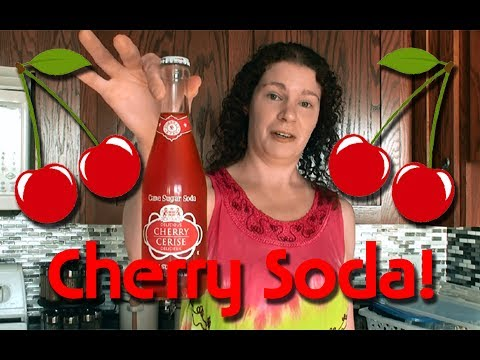 Cherry Flavor Sugar Cane Soda!