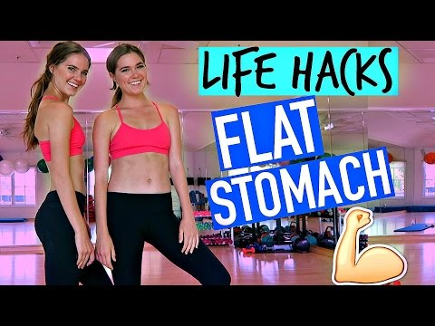 Life Hacks For A Flat Stomach - LEAN & TONED