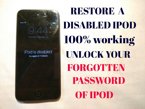 HOW UNLOCK A LOCKED OR FORGOTTEN PASSWORD OF IPOD/IPHONES|| IPOD IS DISABLED PROBLEM ALSO SOLVED