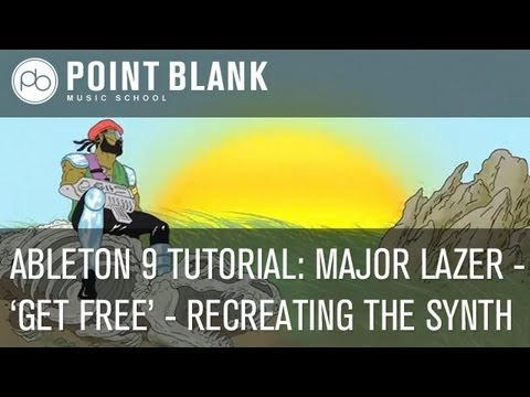 Ableton 9 Tutorial: Major Lazer 'Get Free' - EMC2 Video Part 2 - Recreating The Synth
