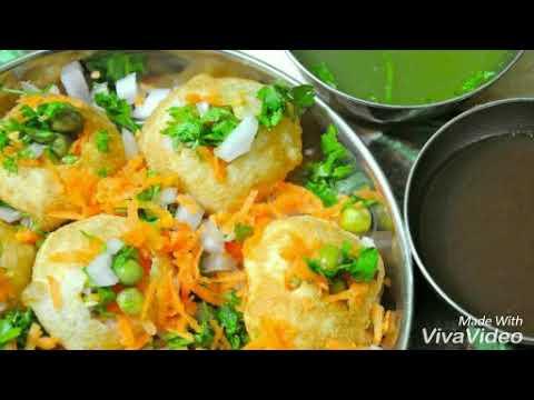 Paani poori and masala poori 2in1 easy recipe in Tamil