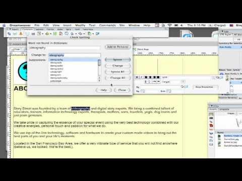 Dreamweaver Tutorial : How to Spell-Check a Web Page With Dreamweaver