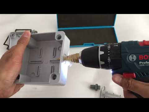 Install outdoor inline cable connector on waterproof junction box.