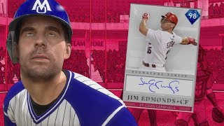 98 JIM EDMONDS DEBUT - WORLD SERIES GAME!! MLB The Show 19 Diamond Dynasty