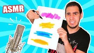 ASÍ SUENAN LOS MATERIALES DE ARTE ! PROBANDO ASMR por Primera Vez | Dibujo ASMR HaroldArtist