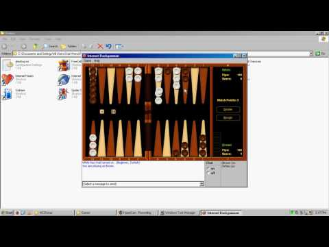 Windows XP Internet Backgammon Gameplay (Recorded April 08 2017)