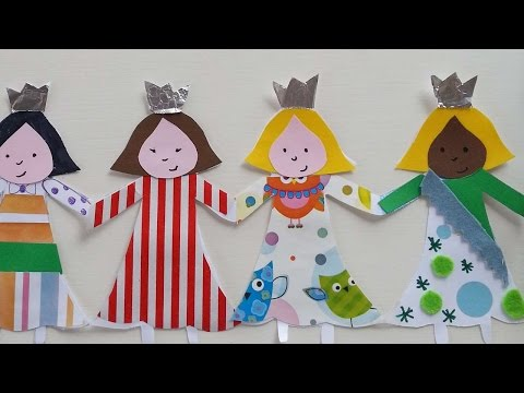 How To Make A Paper Princess Doll Chain - DIY Crafts Tutorial - Guidecentral