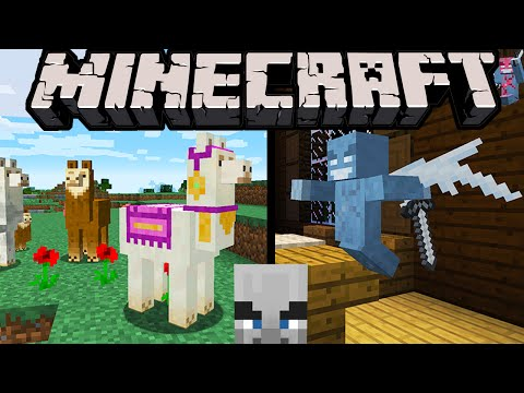 Minecraft 1.11 Exploration Update: Llamas Spit, Evil Villagers, Vex, Woodland Mansion, Shulker Box