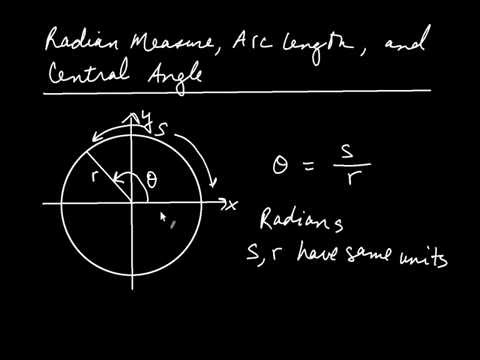 Radian Measure, Arc Length, and Central Angle