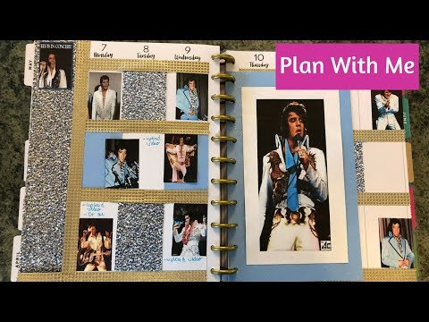 Plan With Me Elvis Theme Happy Planner