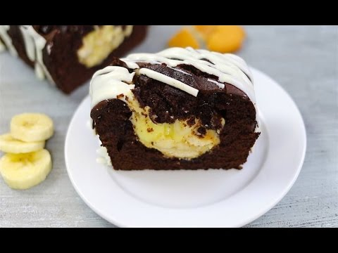 Banana Pudding Stuffed Chocolate Cake