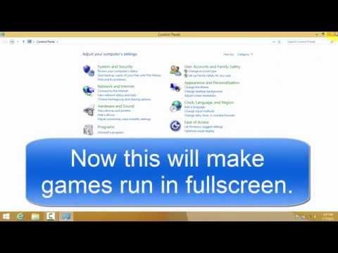 ★How to make games run in fullscreen(Intel HD Graphics)★