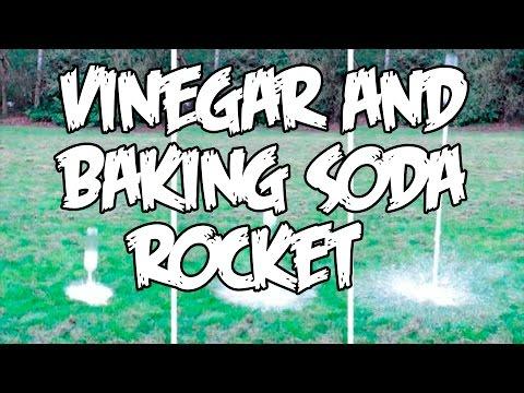 Vinegar and Baking Soda Rocket + Slow Motion!