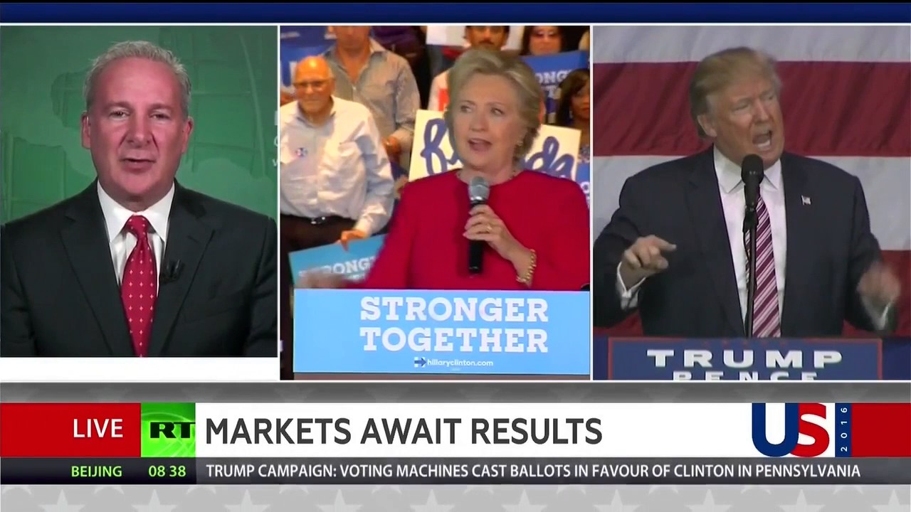 Peter Schiff Calls Trump Brexit Style Upset at 7:30 PM Eastern